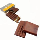 Humidor di cuoio della cassa di sigaro di corsa del tubo del supporto di Cohiba Brown (ES-EB-144)