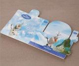 Cartão de etiqueta de papel dobrável para empacotamento de brinquedos