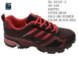 Numéro 50197 noir et bleu de chaussures d'action de sport de maille d'hommes