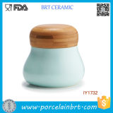 Venda por grosso de cerâmica Verde Hortelã Condimento recipiente de armazenamento de cozinha