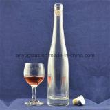 明確な円形のガラスビン500mlのウイスキーボトルの氷のワイングラスのびん