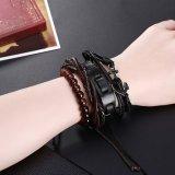 Insiemi tessuti stile punk caldo di vendita del braccialetto