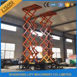 plate-forme de travail mobile hydraulique extérieure de ciseaux de 8m