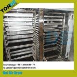 Bandeja de acero inoxidable la circulación de alimentos de peces de la máquina de secado