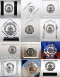 Бесплатная раздача сувенира роскошного подарка набора часов кристаллический часов M-5135 таблицы каркасного установленная