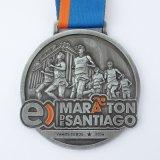 金属メダルを実行する旧式な青銅によって浮彫りにされる投げるスポーツ