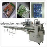 Na máquina de embalagem de várias linhas de borda para alimentos