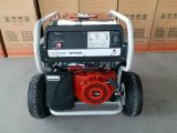 générateur portatif de l'essence 6.5kw avec les grands roues 4X et crochet de levage pneumatiques