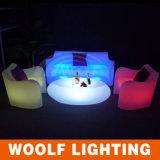 더 많은 것 300의 디자인 LED 점화 PE 플라스틱 가구 LED 바 소파