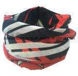 Le produit d'OEM a personnalisé l'écharpe de couleur chamois multifonctionnelle magique estampée promotionnelle de polyester estampée par logo