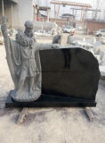 中国の花こう岩の大理石の墓碑記念碑(天使および中心)