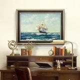 Vente en gros de peintures à l'huile de décoration de haute qualité, peinture de décoration intérieure, peintures à l'huile de peinture à l'huile de bateau à voile de peinture d'art