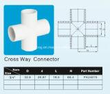 Plastique UPVC/connecteur en travers voie de PVC/PVC-U