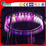 Sala de cortina de la decoración fuente de agua de lluvia cubierta