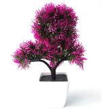 홈과 사무실 훈장을%s 인공 꽃 화분에 심는 Bonsai가 가짜 꽃 훈장 작은 Bonsai에 의하여 설치한다