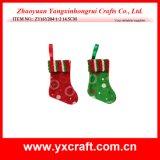 Decorazione artificiale dell'albero di Natale di piccolo disegno del calzino del regalo di natale