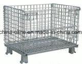 Contenitore accatastabile piegato della rete metallica