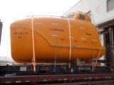 Fabricação de bote salva-vidas de fibra de vidro totalmente fechada, barco de vida com preço