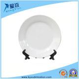 Piatto bianco di ceramica di sublimazione stabilita di ceramica del piatto del pranzo di alta qualità