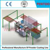 Linha de pulverização em pó para perfis de alumínio de revestimento com alta capacidade