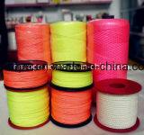 Corda de pesca de nylon cor néon Linha Multilfilament cravar