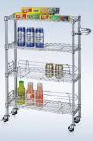 Le NSF Chrome-A plaqué le chariot de chariot à transport de nourriture de restaurant de fil en métal