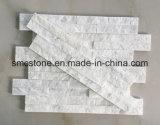 10*40cm 백색 규암 호리호리한 돌 문화 돌 Hhsc10X40-005