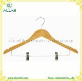 Nouvelle couche de luxe et pantalon de crochet de suspension en bois femelle cintres antivol
