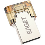 Palillo de la memoria de almacenamiento USB Pendrives Eaget V8 8GB 16GB 32GB mini metal unidad flash USB 2.0 OTG USB Pen Drive Encryption impermeable