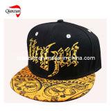 Coroa cinza com pico de chapéu de basebol plana