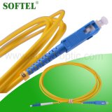 FTTX Solution Provider / 12 Core Fiber Optical MPO-LC Patch Cord