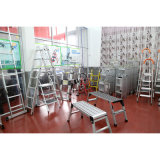 Construção de alumínio de alta plataforma com pernas de segurança