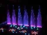Projet de fontaine d'eau de l'Ukraine combinant avec la fontaine d'écran d'eau et la LED
