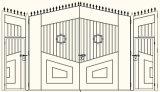 De Duitse Poort van de Ingang van het Aluminium van het Ontwerp met Goede Kwaliteit