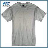 T-shirt rond de collet de plaine de bonne qualité faite sur commande de coton