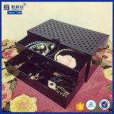 Cassetti da tavolino materiali acrilici neri di trucco
