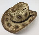 밀짚 모자에 의하여 인쇄된 서류상 카우보이 작풍은의 밖으로 속을 비게 한다 (Sh11)