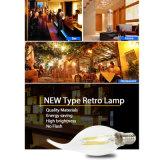 Lámpara antigua del bulbo de la vendimia LED del bulbo de E27 E14 LED Edison
