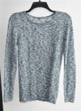 Ladies Linen Rayon Fancy Yarn Knit Pullover Sweater