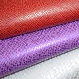 Couro PU texturizado sintético para o saco com relevo couro artificial da Sapata
