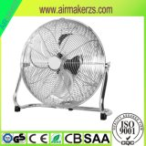 Ventilator des Fußboden-18inch mit Chrom-Gitter-und Aluminium-Schaufeln