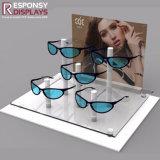 Présentoir de lunettes de soleil de contre- dessus d'acrylique
