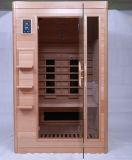 Équipement de salle de sauna en bois infrarouge à 2 personnes à la vente