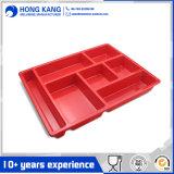 Placas cuadradas Non-Disposable del plástico de la melamina de la cena de la dimensión de una variable