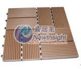 Decking de 305*305*22 WPC, Decking de WPC, Decking, compuesto plástico de madera