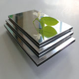 3mm / 4mm / 5mm / Espejo Panel compuesto de aluminio de 6 mm Alucosuper Plata