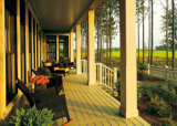 Imperméable WPC Decking Solid Wood Plastic Composite Flooring