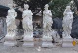 Каменная мраморный высекая скульптура для украшения сада (SY-X1034)