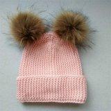 女の子のための2016年の毛皮POMの美しい帽子