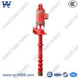 Ligne électrique système de pompe à incendie de puits profond d'arbre avec le moteur
